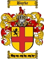 Primary image for Burke Family Crest / Coat of Arms JPG or PDF Image Download