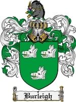 Primary image for Burleigh Family Crest / Coat of Arms JPG or PDF Image Download