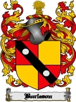 Primary image for Burleson Family Crest / Coat of Arms JPG or PDF Image Download