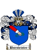 Primary image for Burmeister Family Crest / Coat of Arms JPG or PDF Image Download