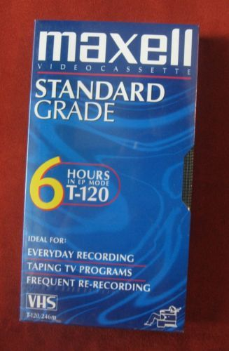 Primary image for Maxwell VHS Video Cassette Standard Grade Sealed New T-120 6 Hours Record Tape