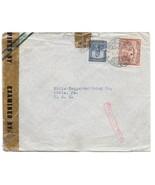 Colombia Censored Cover Medellin to US WWII Boxed Taquilla No Sc 469 C125 - $4.99