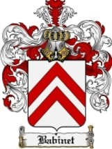 Babinet Family Crest / Coat of Arms JPG or PDF Image Download - $6.99