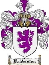 Balderston Family Crest / Coat of Arms JPG or PDF Image Download - $6.99