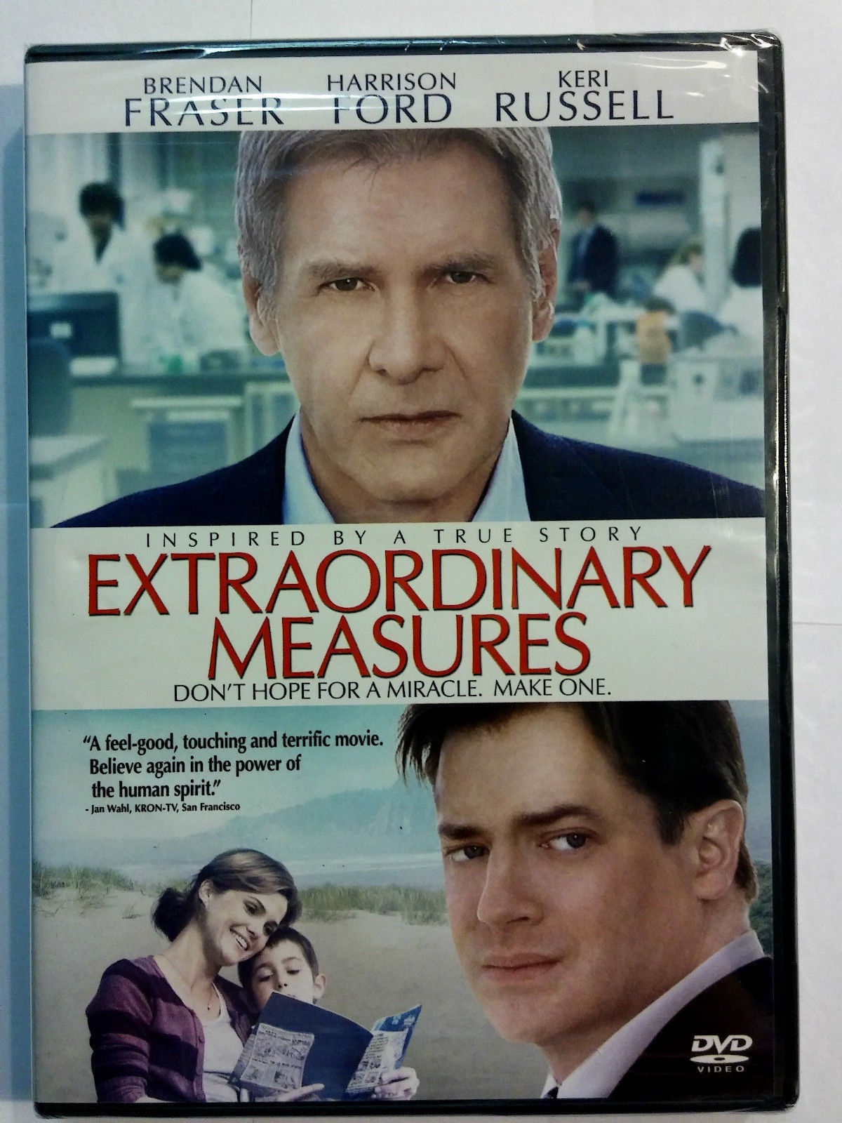 Primary image for Extraordinary Measures [DVD, 2010] Brendan Fraser Harrison Ford Keri Russell NEW