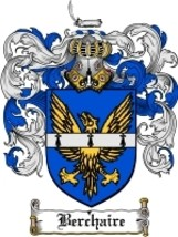 Berchaire Family Crest / Coat of Arms JPG or PDF Image Download - $6.99