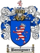 Bonsignore Family Crest / Coat of Arms JPG or PDF Image Download - $6.99