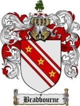 Bradbourne Family Crest / Coat of Arms JPG or P... - $6.99