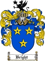 Primary image for Bright Family Crest / Coat of Arms JPG or PDF Image Download