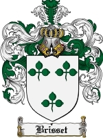 Primary image for Brisset Family Crest / Coat of Arms JPG or PDF Image Download