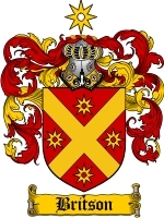 Primary image for Britson Family Crest / Coat of Arms JPG or PDF Image Download