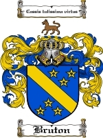 Primary image for Bruton Family Crest / Coat of Arms JPG or PDF Image Download