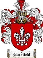 Primary image for Buckfield Family Crest / Coat of Arms JPG or PDF Image Download