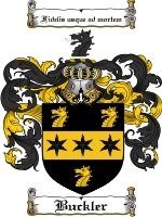 Primary image for Buckler Family Crest / Coat of Arms JPG or PDF Image Download