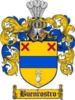Primary image for Buenrostro Family Crest / Coat of Arms JPG or PDF Image Download