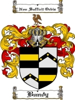 Primary image for Bundy Family Crest / Coat of Arms JPG or PDF Image Download