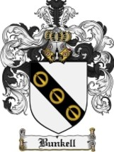Bunkell Family Crest / Coat of Arms JPG or PDF Image Download - $6.99
