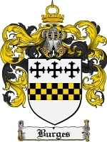 Primary image for Burges Family Crest / Coat of Arms JPG or PDF Image Download