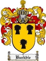 Primary image for Burkbie Family Crest / Coat of Arms JPG or PDF Image Download