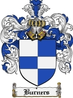 Primary image for Burners Family Crest / Coat of Arms JPG or PDF Image Download