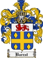Primary image for Burrat Family Crest / Coat of Arms JPG or PDF Image Download