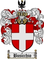Primary image for Busicchio Family Crest / Coat of Arms JPG or PDF Image Download