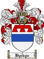 Primary image for Byrkyn Family Crest / Coat of Arms JPG or PDF Image Download