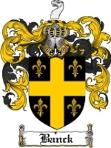 Banck Family Crest / Coat of Arms JPG or PDF Image Download - $6.99