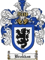 Primary image for Brokkas Family Crest / Coat of Arms JPG or PDF Image Download