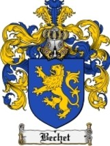 Bechet Family Crest / Coat of Arms JPG or PDF Image Download - $6.99