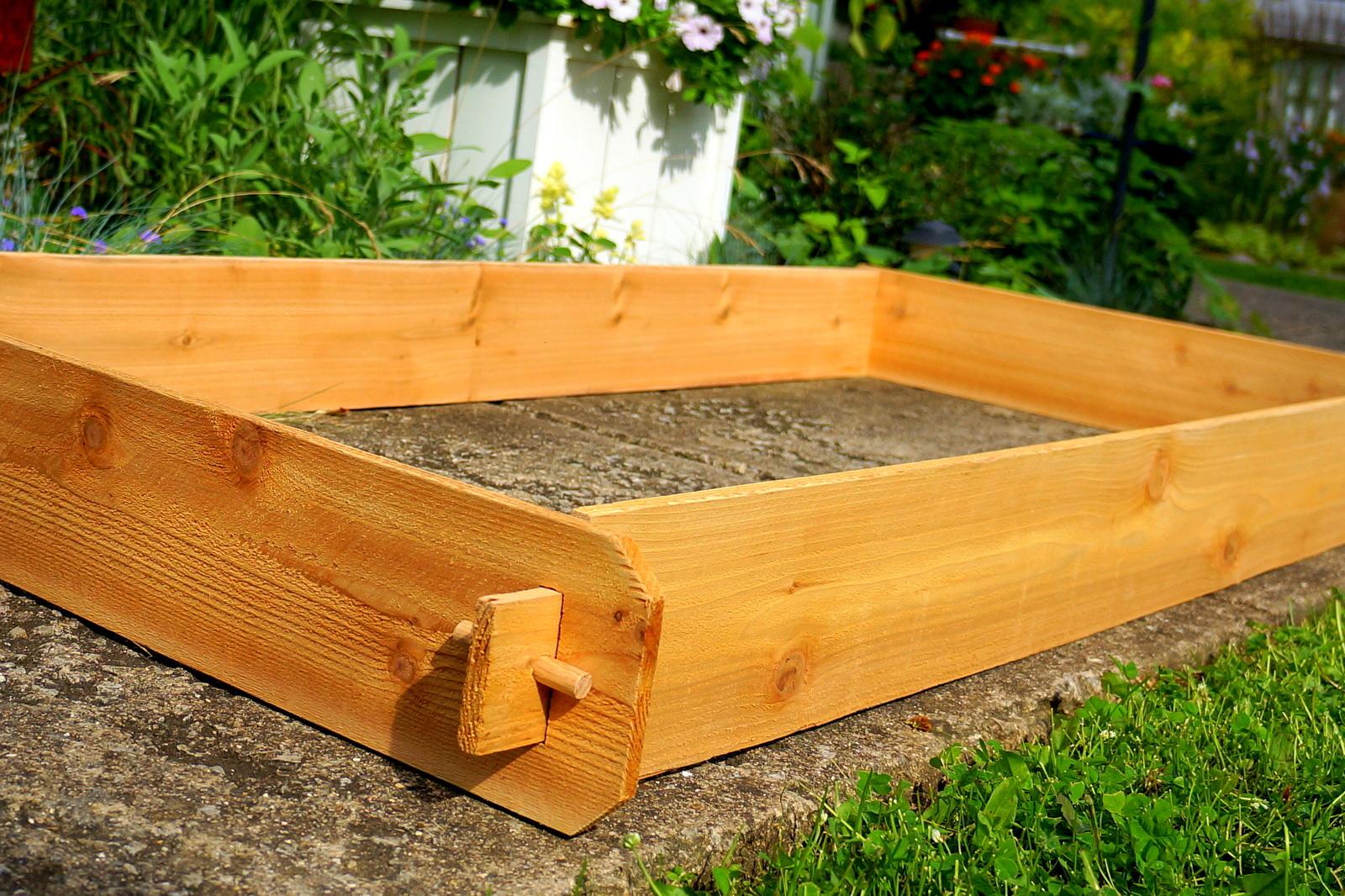 Herb Planter Box Outdoor: Garden Raised Bed Planter Flower Box Cedar Vegetable Kit