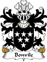 Bonvile Family Crest / Coat of Arms JPG or PDF Image Download - $6.99