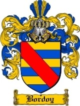 Bordoy Family Crest / Coat of Arms JPG or PDF Image Download - $6.99