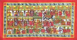 Phad Rajasthan Miniature Painting Handmade Indian Folk Scroll Decor Ethn... - $129.99