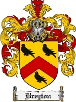 Primary image for Breyton Family Crest / Coat of Arms JPG or PDF Image Download