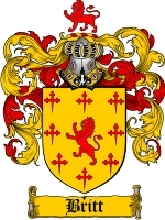 Primary image for Britt Family Crest / Coat of Arms JPG or PDF Image Download