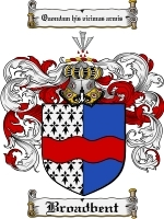 Primary image for Broadbent Family Crest / Coat of Arms JPG or PDF Image Download