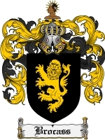 Primary image for Brocass Family Crest / Coat of Arms JPG or PDF Image Download