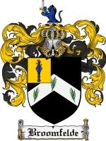 Primary image for Broomfelde Family Crest / Coat of Arms JPG or PDF Image Download