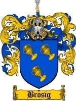 Primary image for Brosig Family Crest / Coat of Arms JPG or PDF Image Download