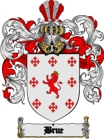 Primary image for Brue Family Crest / Coat of Arms JPG or PDF Image Download