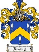Primary image for Brulley Family Crest / Coat of Arms JPG or PDF Image Download