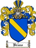 Primary image for Bruno Family Crest / Coat of Arms JPG or PDF Image Download