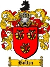 Bullen Family Crest / Coat of Arms JPG or PDF Image Download - $6.99
