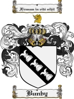 Primary image for Bunby Family Crest / Coat of Arms JPG or PDF Image Download