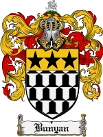 Primary image for Bunyan Family Crest / Coat of Arms JPG or PDF Image Download