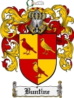 Primary image for Buntine Family Crest / Coat of Arms JPG or PDF Image Download