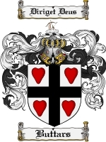 Primary image for Buttars Family Crest / Coat of Arms JPG or PDF Image Download