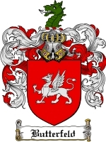 Primary image for Butterfeld Family Crest / Coat of Arms JPG or PDF Image Download