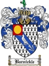 Barnickle Family Crest / Coat of Arms JPG or PDF Image Download - $6.99